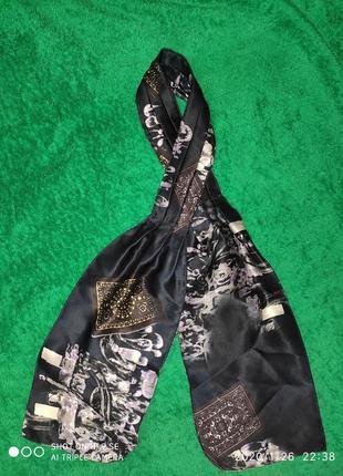 Шелковый мужской платок на шею