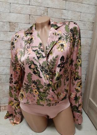 Блуза  боди атласная