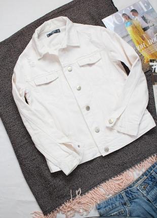 Белая джинсовая куртка с молочным оттенком манго ххс- хс размер mango