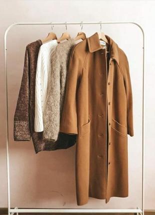 Винтажное шерстяное пальто винтаж eastex