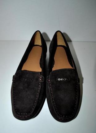 Туфли geox патент!!лоферы топсайдеры коричневые замшевые оригинал