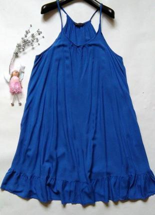 Легкое платье с воланом по низу 16