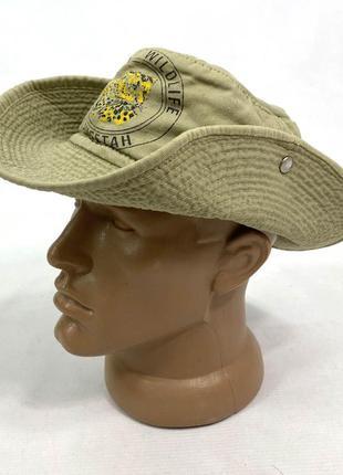 Шляпа панамка детская kenya, зеленая. мин сл носки