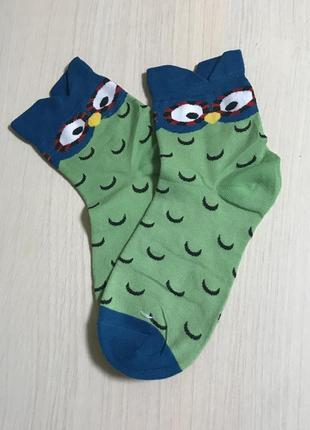 Новинка!!!носки с принтом совы.