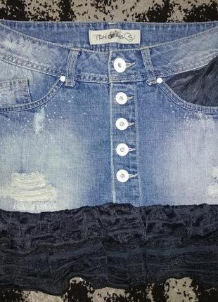 Оригінальна джинсова спідничка terranova