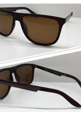 Мужские солнцезащитные очки коричневые поляризованные линзы