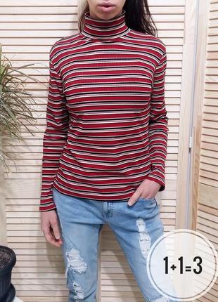 Essentials базовая водолазка s-m гольф в полоску свитер пуловер джемпер свитшот кофта