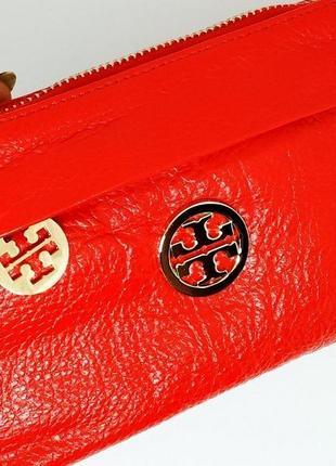 Кожаный красный кошелек