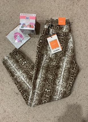 Штаны змеиный принт / момы / mom jeans / змея
