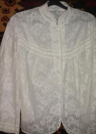 # розвантажуюсь  блузка ажурная белая