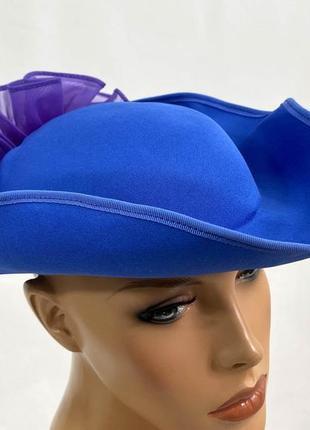 Шляпка стильная, синяя kangol, легкая, england