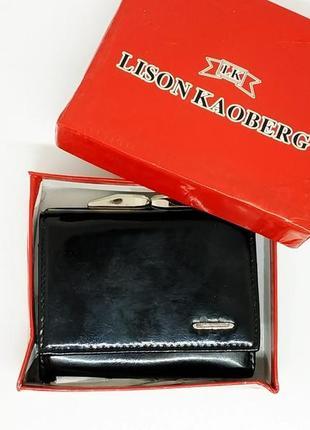 Кожаный брендовый кошелек lison kaoberg