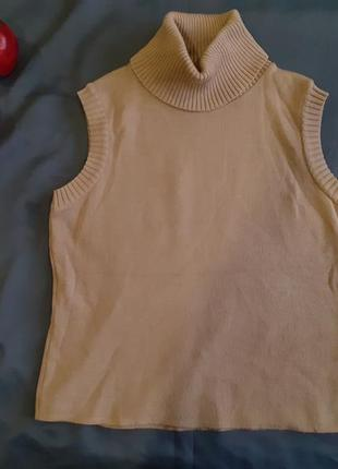 Гольф гольфик американка кемел капучино теплый свитер кофта реглан жилет жилетка