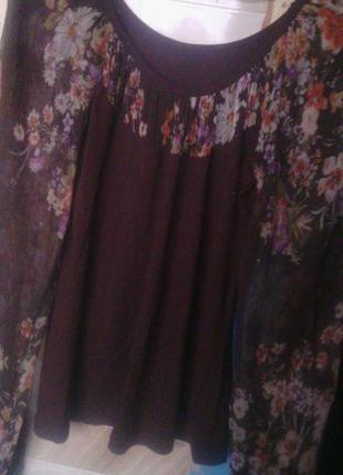 Блуза с шелковым рукавом р.s италия