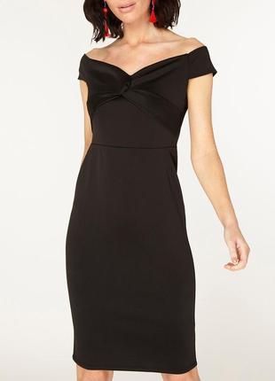 Красивое стрейч платье карандаш открытые плечики размера l-xl