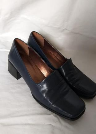 Кожаные туфли италия размер 37