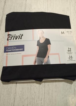 Новая спортивная футболка crivit р. м 40/42 евро, наш 46-48