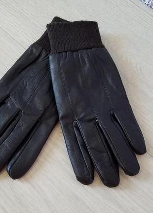Linea кожаные мужские перчатки