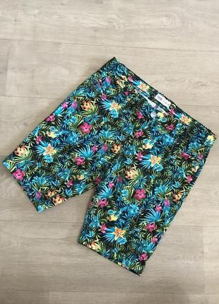 Мега яркие джинсовые шорты!!! janina denim