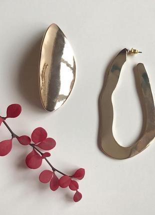 💕акція 1+1=3💎стильні асиметричні сережки від бренду bershka 🌿з сайту asos