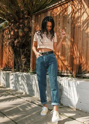 Американские джинсы мом с высокой посадкой