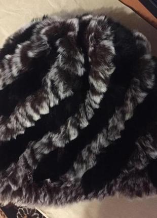Тёплая меховая шапка