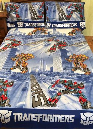 Комплект постельного белья transformers. полуторное