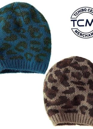 Комплект  вязаных , теплых шапок 2 шт. германия tcm tchibo