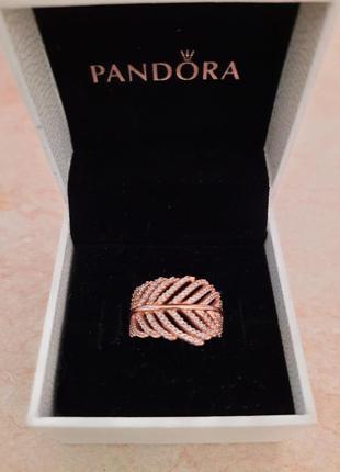 Кольцо перо pandora пандора р.50