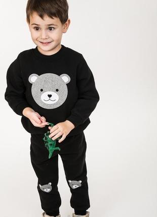Детский костюм на флисе трикотажный 3-нитка