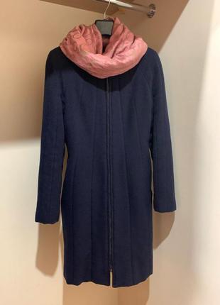 Эллегантное синие кашемировое пальто