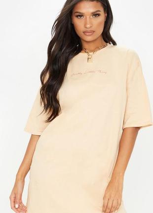Prettylittlething. товар из англии. платье футболка в стиле оверсайз.