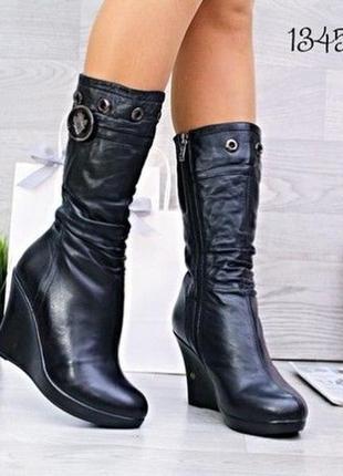 Женские зимние ботинки новые сапожки р. 38 кожа
