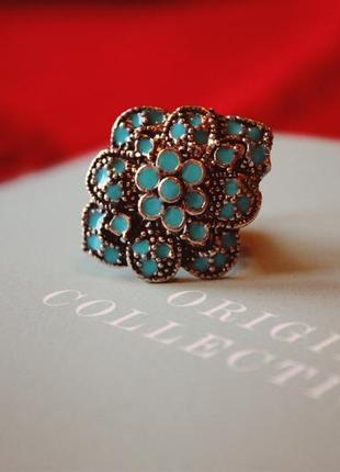 Распродажа украшений! кольцо красивое стильное ретро винтаж бохо этно этническое эмаль
