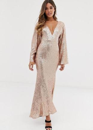 Club l london золота сукня вся в паєтках