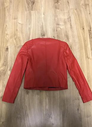 Куртка косуха mango красная3 фото