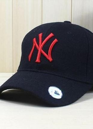 Шерстяная бейсболка кепка new york mlb