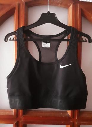 Nike dri-fit спортивный топ бюстгальтер  размер s