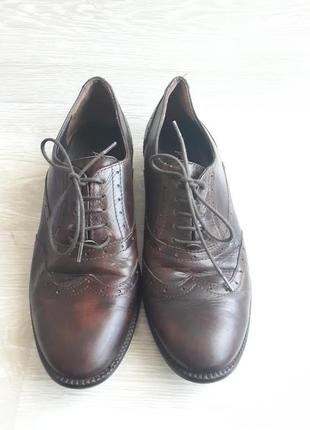 Кожаные броги / кожаных закрытые туфли без каблука