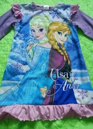 Ночнушка пижама анна и эльза холодное сердце