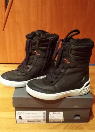 Новые! оригинал! зима термо ботинки сапоги ecco.