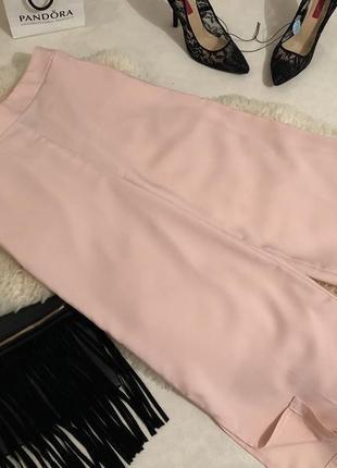 Супер крутые и стильные пудровые широкие брюки кюлоты с высокой посадкой и кармашками ❤️💋🍓