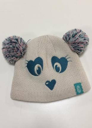 Двойная шапочка в виде медвежонка