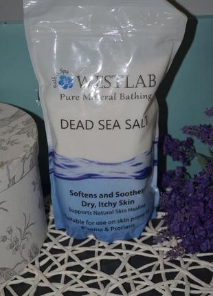 Новая соль мертвого моря westlab dead sea salt 1 кг