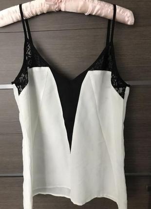 Блуза блузка майка кружево ажур футболка