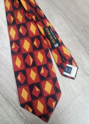 Итальянский галстук bruno magli 100% шелк