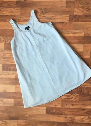 Джинсовый голубой стильный сарафан размер s-m