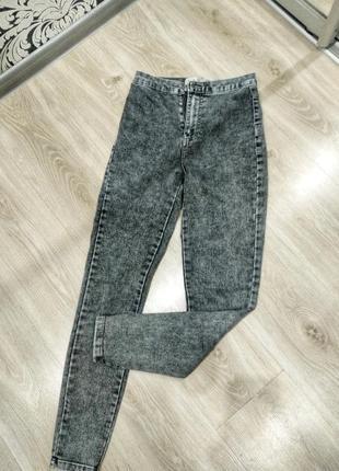 Джинсы denim co,джегинсы стильные серые джинсы