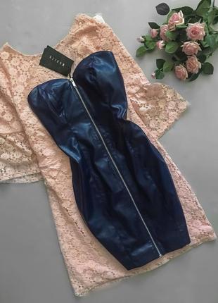 Mohito «кожаное» платье бандо