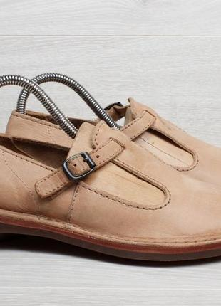 Женские кожаные туфли с пряжкой clarks originals, размер 37 - 38